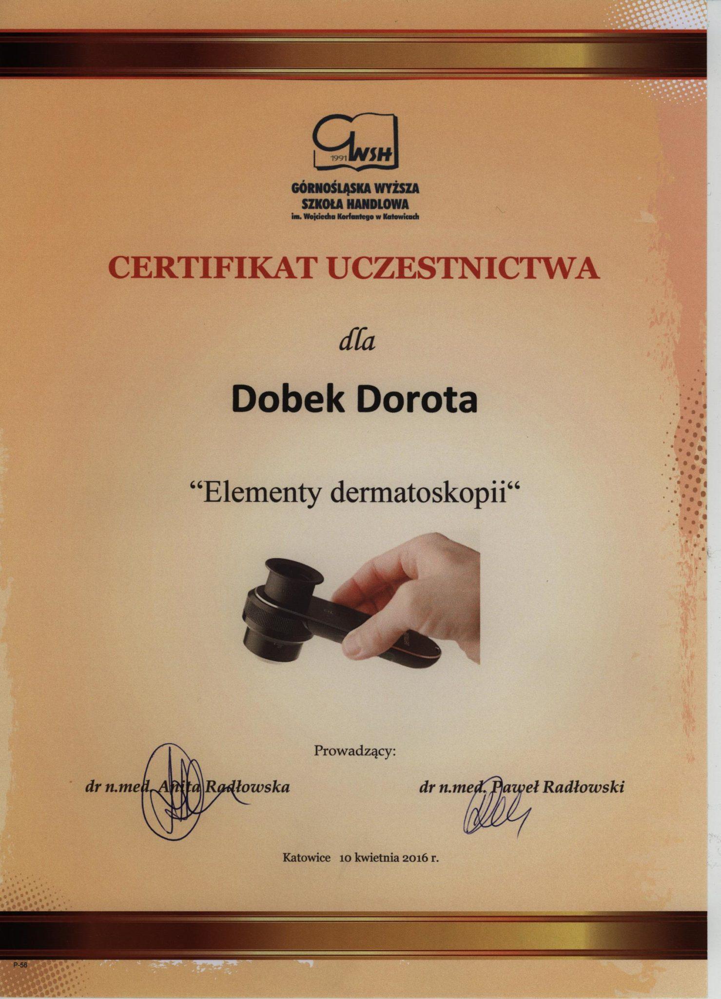 medycyna estetyczna certyfikat